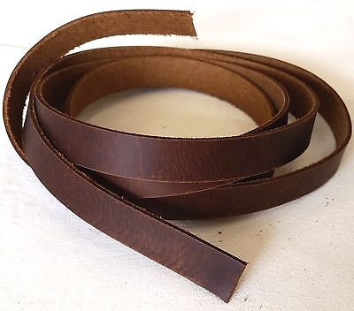 "BROWN Latigo SADDLE STRINGS 1/2"" x 48"" Leather Strap 5008-12 Tandy Strips Straps"