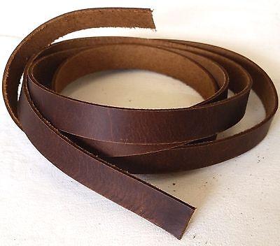 "BROWN Latigo SADDLE STRINGS 1/2"" x 48"" Leather Strap 5008-12 Tandy Strips Straps"