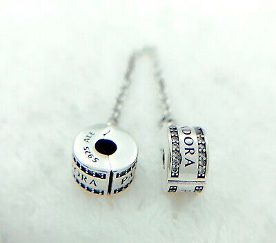 Authentic Pandora Sliver 925 ALE Insignia Safety Chain Charm 792057