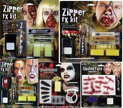 Halloween Make Up Fx Kit Zipper Zombie Ladies Men's Vampire Vampires Horror Kit - Men Make Up Halloween