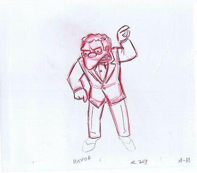 Moe Szyslak (Simpsons Moe Szyslak Original Art Animation Production Pencils HABF06 SC)