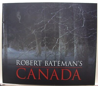 Robert BATEMAN Canada HARDCOVER BOOK with 2 prints Midnight Black Wolf signed