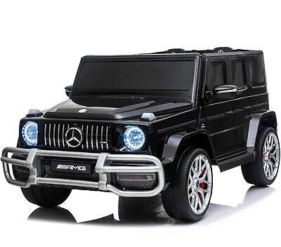 Licensed 4WD High Door Mercedes AMG G63 Children's 24V Ride On Jeep - Black