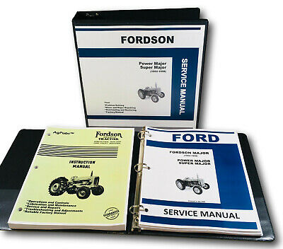Ford Fordson Major Power Super Tractor Factory Service Repair Manual Shop Book