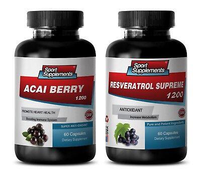 Liquid Fiber Supplement (antioxidant liquid supplement - ACAI BERRY – RESVERATROL COMBO 2B - acai)
