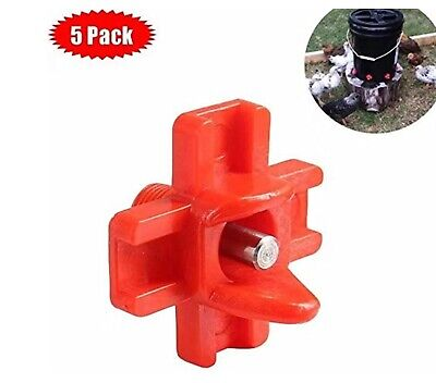 5 Pack Horizontal Side Mount Chicken Nipples Water Automatic Poultry