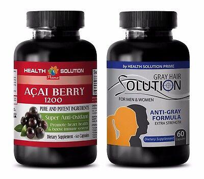 metabolism boost - ACAI BERRY – GRAY HAIR COMBO 2B - saw palmetto capsule