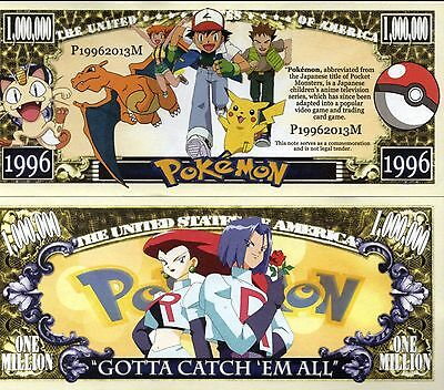 Pokemon Video Game Million Dollar Novelty Money