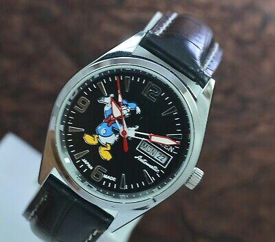 Vintage Citizen Donald Duck Day Date 21 Jewels Automatic Men's Wrist Watch