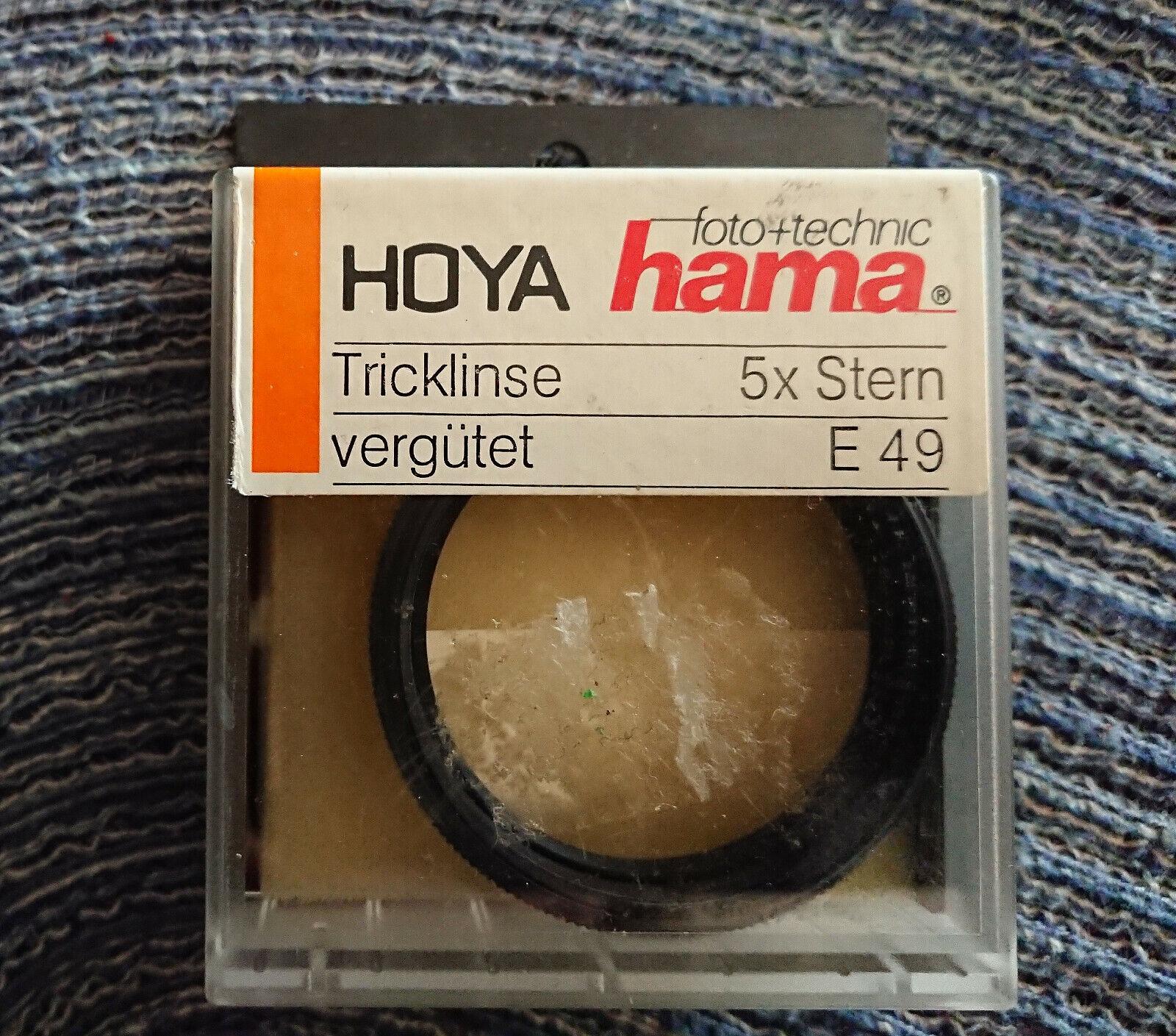Hoya Hama Effekt Filter Tricklinse 5 x Sternfilter Stern E49mm 49mm -- OVP TOP