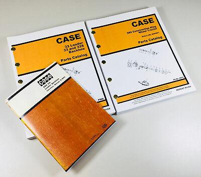 CASE 580CK TRACTOR LOADER BACKHOE MANUAL PARTS CATALOG SET
