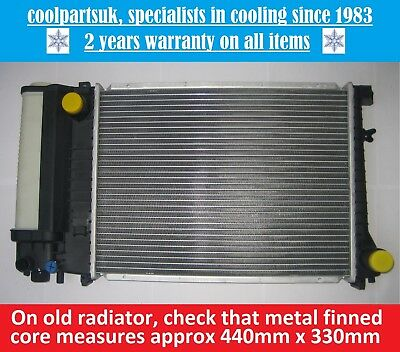 BRAND NEW RADIATOR BMW 3 SERIES E30  E36  5 SERIES E34 440mm x 330mm CORE