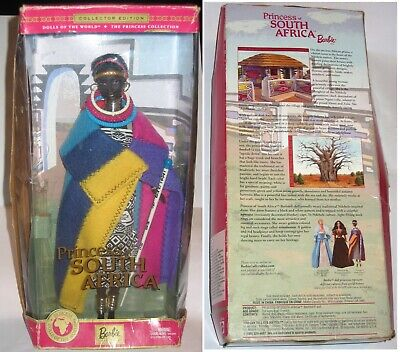 Black Barbie Doll Princess of South Africa DOLLS OF THE WORLD African AA Ethnic