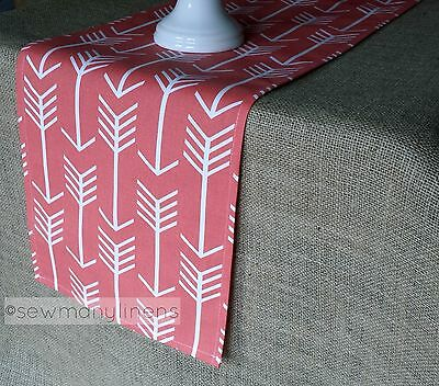 Coral Table Runner Arrow Dining Kitchen Home Decor Linens Table Centerpiece  - Coral Table Runner