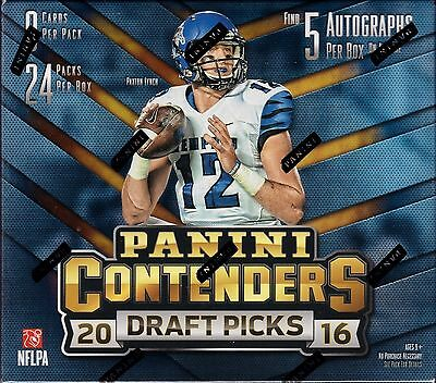 2016 Panini Contenders Draft Picks Football sealed hobby box 24 packs 5 auto