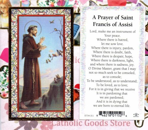 A Prayer of Saint Francis of Assisi - Gold Trim - Paperstock Holy Card