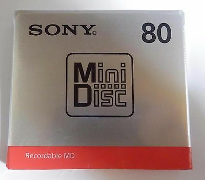 NEW  SONY Blank Mini Disc 80min