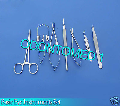 8 Pc O.r Grade Basic Eye Veterinary Micro Surgical Ophthalmic Instruments Kit 2