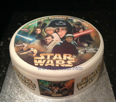 Star Wars 01 pre-cut Edible Icing Cake Topper or Ribbon