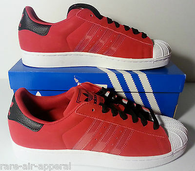 ADIDAS SUPERSTAR II/2 RED/BLACK/WHITE mens SUEDE SHELLTOES SHOES Adidas Superstar 2 Shoes