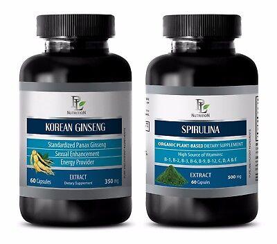 Best Antioxidant - KOREAN GINSENG – SPIRULINA COMBO - red maca root powder (Best Red Maca Powder)