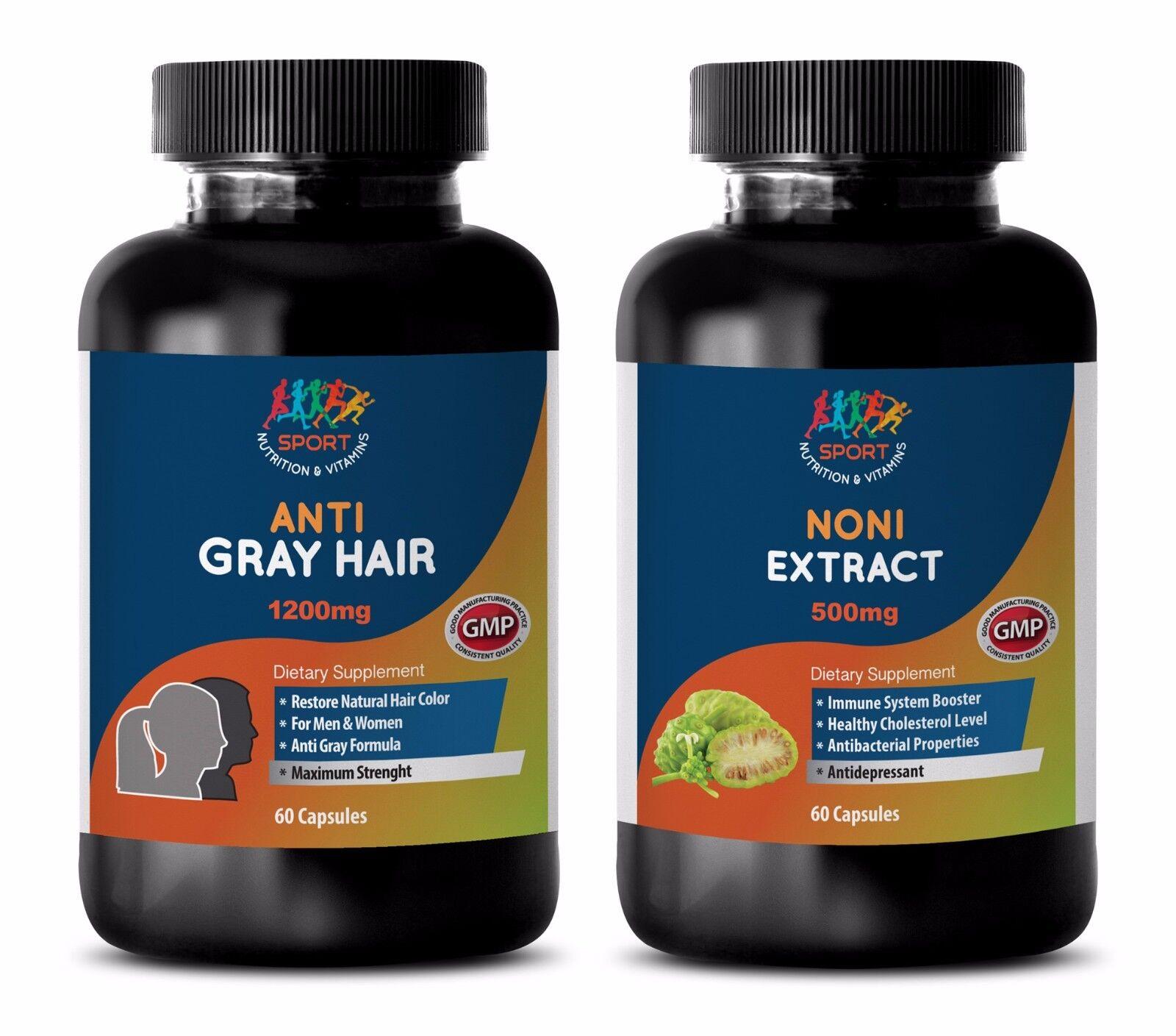 Antioxidant Caps - Gray Hair - Noni Combo 2b - Noni Extract Organic
