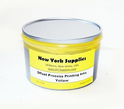 Yellow Process Offset Printing Ink - 2.5 Lbs
