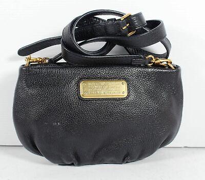 Marc By Marc Jacobs Black Pebbled Leather Women's Shoulder Crossbody Handbag