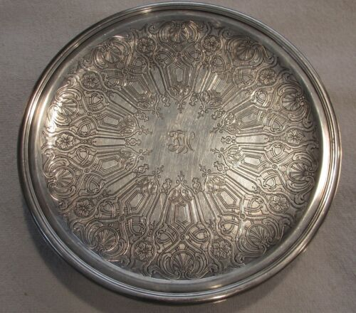 Tiffany Sterling Silver pedestal plate cake stand c 1923-1924