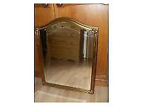 Beautiful guilt antique mirror for sale