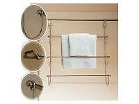 Large 3 Tier Over the Door Towel Rack Stainless Steel Organizer