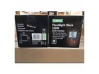 X45 120W Black Outdoor Security Floodlight Weather Proof Wall Mounted New Boxed