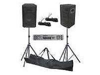200W DJ PA Disco House Party Speaker Amplifier Kit With Stands