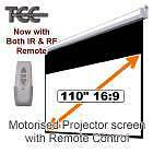 """110"""" TCC Motorised 16:9 projector screen with RF & IR Remote Mulgrave Monash Area Preview"""