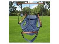 air swing outdoor camping garden handing chair hammock pillow carry bad and cup holder