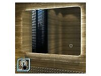Designer illuminated LED bathroom mirror horizontal or vertical mount 500/700 auroa touch