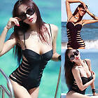 Black Push up Padded one piece bathing suit SIZE S/M  Brand NEW!