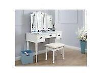 White modern dressing table & Mirror