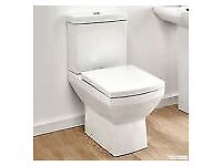 Toilet Bathroom Pan WC Modern Square soft Close Seat