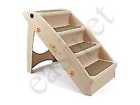 EASIPET Dog Folding Stairs / Pet Travelling / Lightweight with Carpet- Brand new