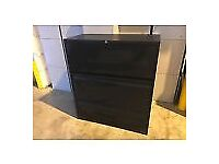 (b1) Filing storage cabinet office cupboard black draws collection only