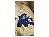 Baby boy swim suit with hat - size 9-12 months
