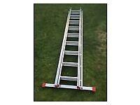 triple extending ladder 2.56 mt.