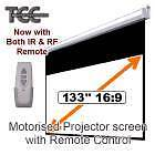 """133"""" TCC Motorised 16:9 projector screen with RF & IR Remote Mulgrave Monash Area Preview"""