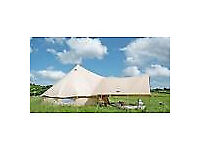 Brand New 100% Cotton 5m Bell Tent (ZIG) With Brand New Awning.