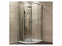 New boxed Cooke & Lewis 900x900 Luxuriant Quadrant Shower Enclosure. Complete with Easy plumb kit.
