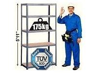 Boltless Metal Frame Shelving. 900x600x450. 5 Wooden Shelves. 2 Available.
