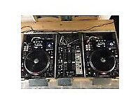 2 x Denon DN SC3900 - 1 x Denon DN X600 - CDJ Vinyl Turntable Deck in flightcase