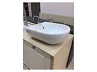 Catalona Italian design wash basin wall hung or counter top BNIB