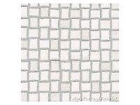 White & Silver Mosaic Tile Vinyl Flooring, Slip Resistant Lino 3m, Cushion Floor 203cm x 200cm